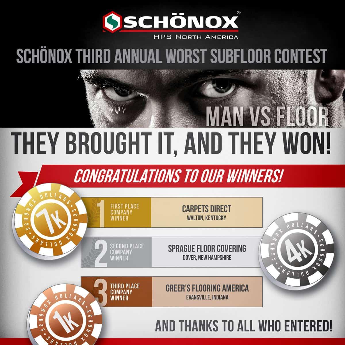 2016 Worst Subfloor Contest Winners