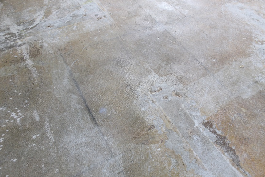 Existing VCT suspected of asbestos content and residual adhesives were present in a number of areas. The project plan called for Schönox products which could cover these areas rather than remove them.