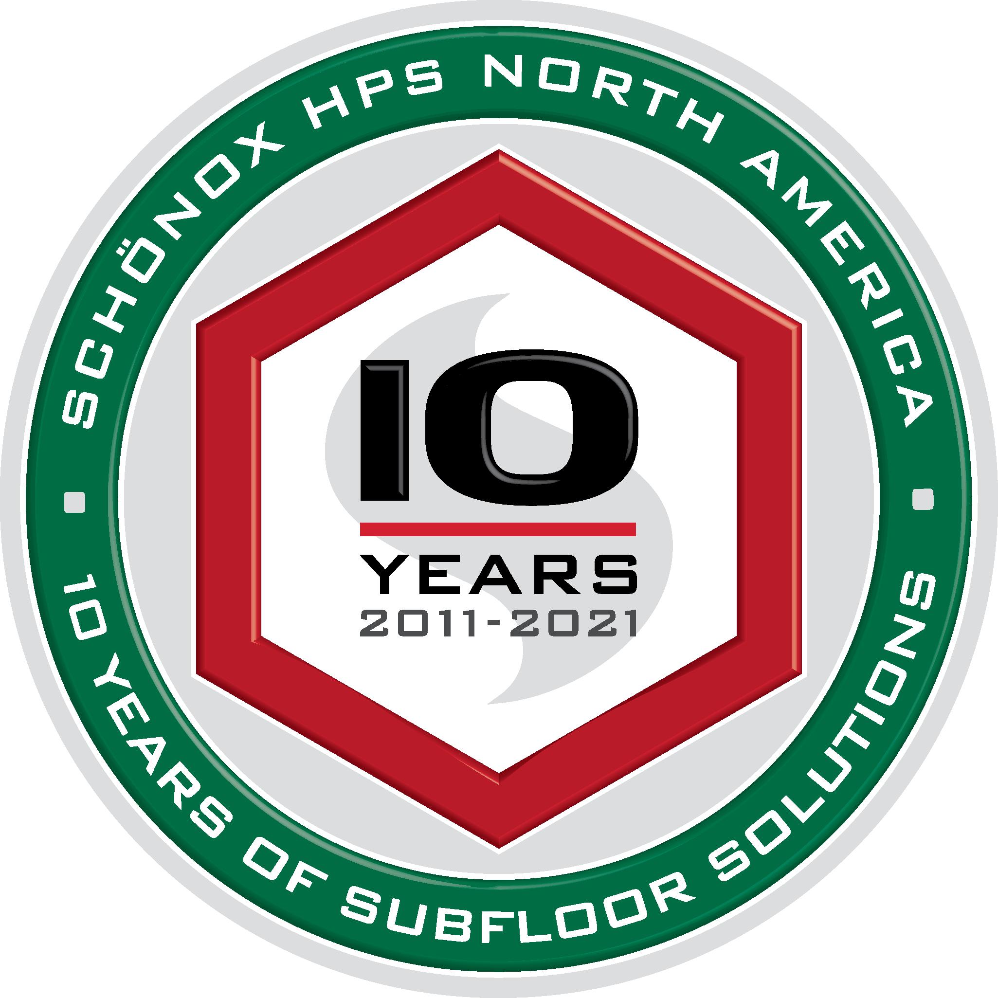 Schönox 10 Year Anniversary Logo